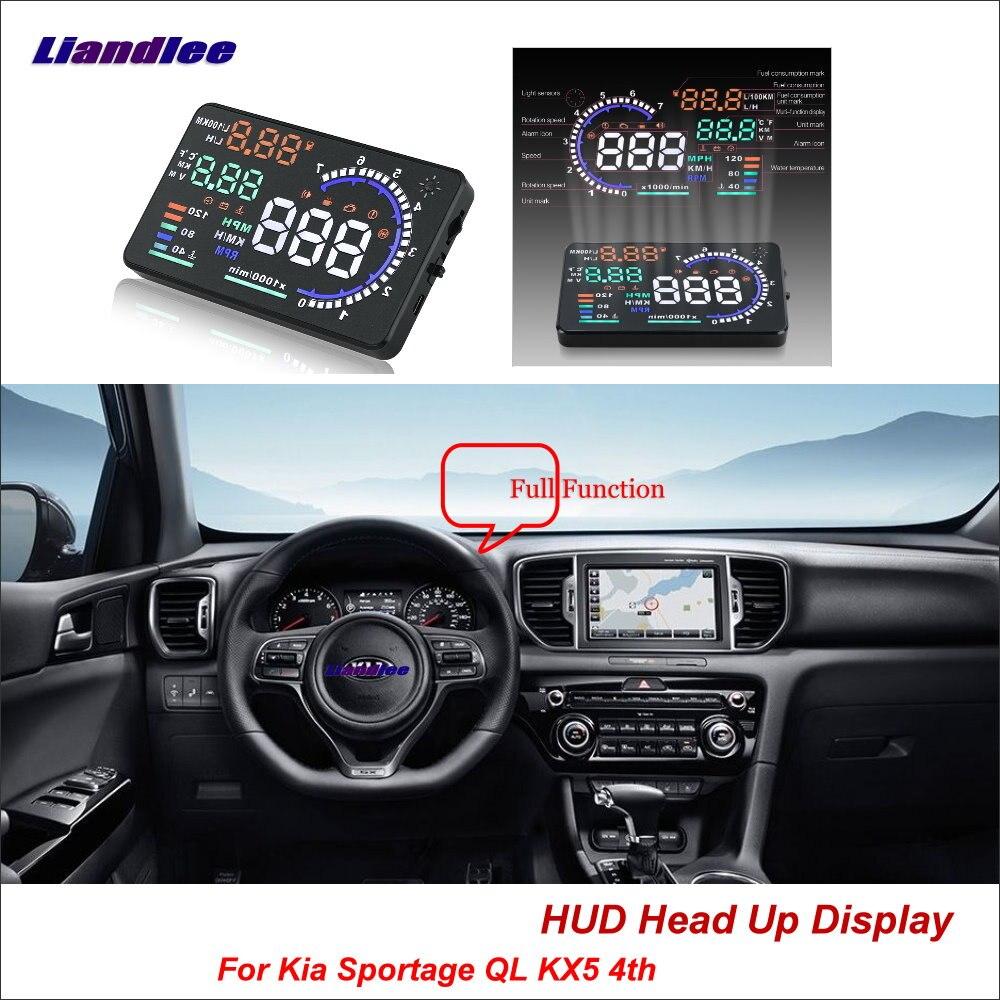 Liandlee For Kia Sportage QL KX5 4th 2015-2018 Safe Driving Screen OBD Car HUD Head Up Display Projector Windshield