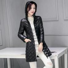 2016 new winter long jacket women coat hooded padded cotton jacket coat outwear fashion warm Women