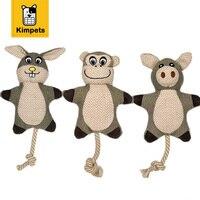 Cute Dog Toys Squittio Giocattolo per il Cane Giocattoli Morso Resistente Coniglio scimmia Maiale Tela Ruvida Corda di Cotone Cucciolo Domestico del Gatto Chew Giocattoli Da Compagnia forniture