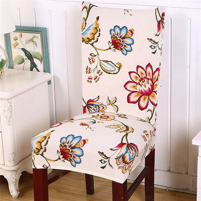 High Quality Removable Elastic Stretch Slipcovers Short Dining Room Chair Seat Cover