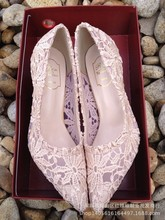 Size 4~10 Big Size Bridal Lace Wedding Shoes High Heel Women Shoes Pumps Genuine Leather zapatos mujer