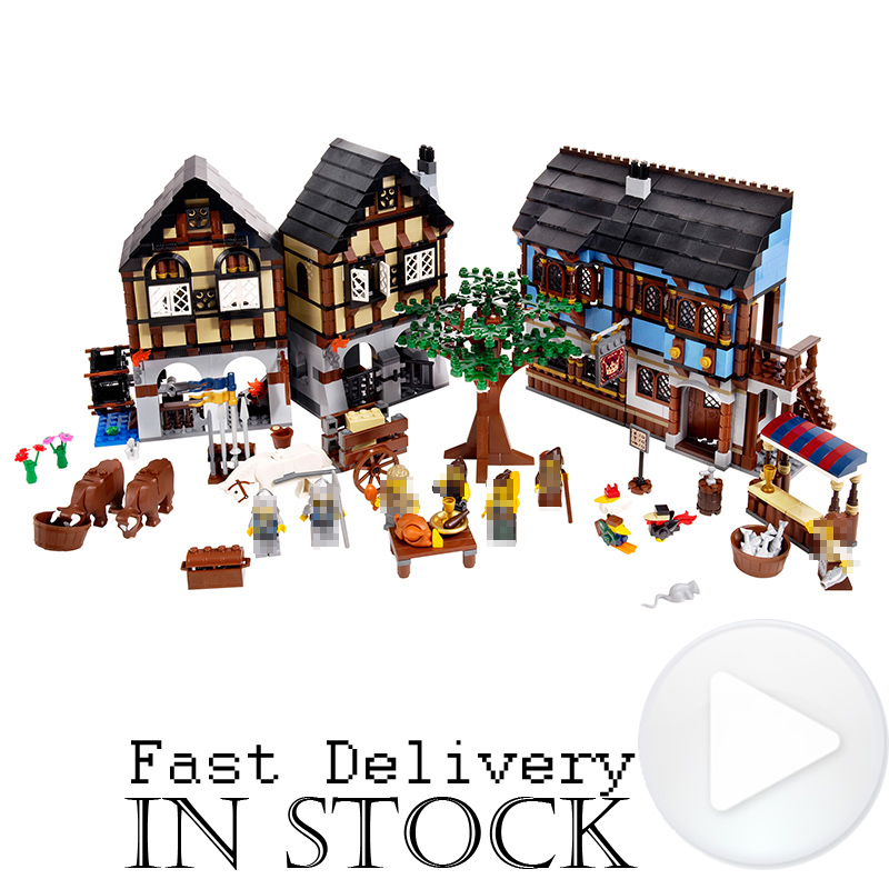 Lepin 16011 Historical Castle Medieval Market Village 1601PCS Knights House Cow Building Bricks Blocks DIY Toys Compatible 10193 the mitochondrial genome historical aspects