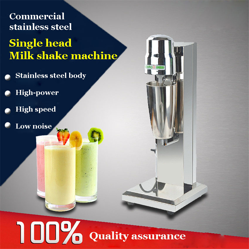 FY-801 1PC Single head milk shake machine commercial milk shaker blender  220v Electric stainless steel stainless steel household milkshake machine single head commercial milk tea shop electric mixer milk bubble machine