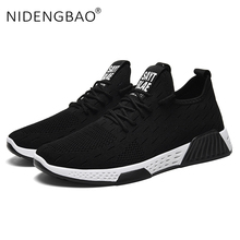 Summer Men Shoes Lace Up Outdoor Sport Shoes For Men Adult Breathable Sneakers Male Mesh Athletic Footwear Walking Casual Shoes цена 2017
