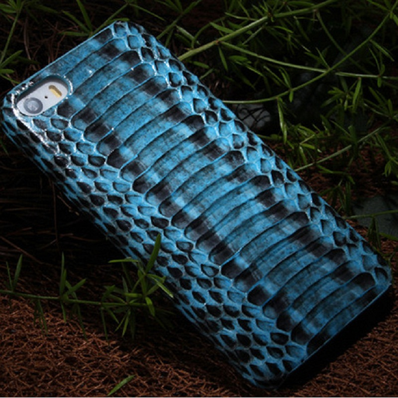 Natural Real Geunine Leather Snake Case iPhone 5 5S SE Cell Phone Luxury Slim Skin Hard Shell Cover Mobile Cases - New Surprise Store store