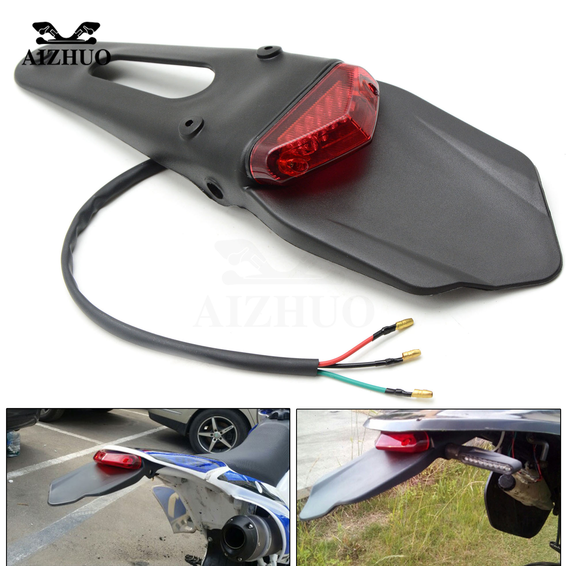Motorcycle Rear Fender Stop Enduro Taillight Turn Signal For HONDA CR80R CR85R CRF150R CR125R KLX450R KDX125 250 KLX125 150S