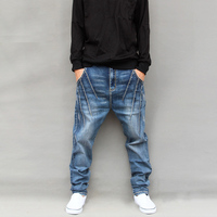 Unique Design Men S Big Harem Pants Personality Low Rise Pants Spring And Autumn Male Skinny