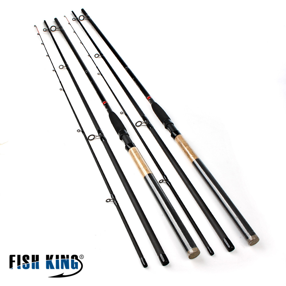 ФОТО FISHIKING Feeder  High Carbon Super Power 3 Sections 3.6M 3.9M Lure Weight 40 -120g Feeder Fishing Rod Feeder Rod