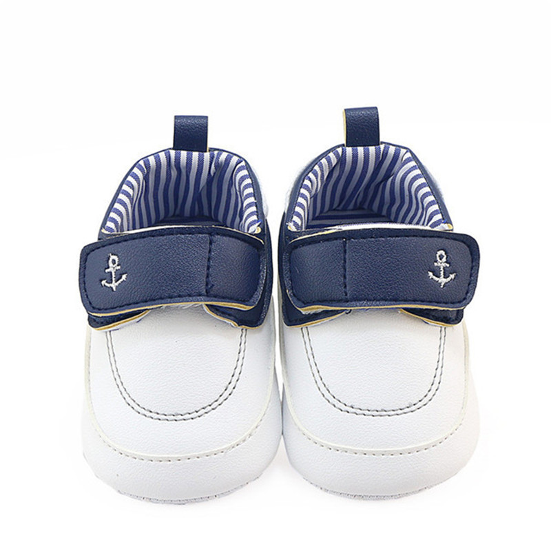 Fashion Baby Boys Casual Shoes Infant Toddler First Walkers Pu Leahter White Brown Color