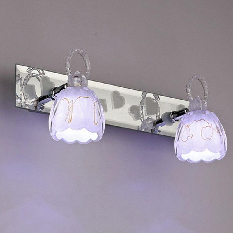 Oder Moderní 2/3 žárovky LED koupelna Ložnice nástěnná lampa Lampada LED světlo Teplé studené světlo Moderní toaletní lampa Rotující světlo