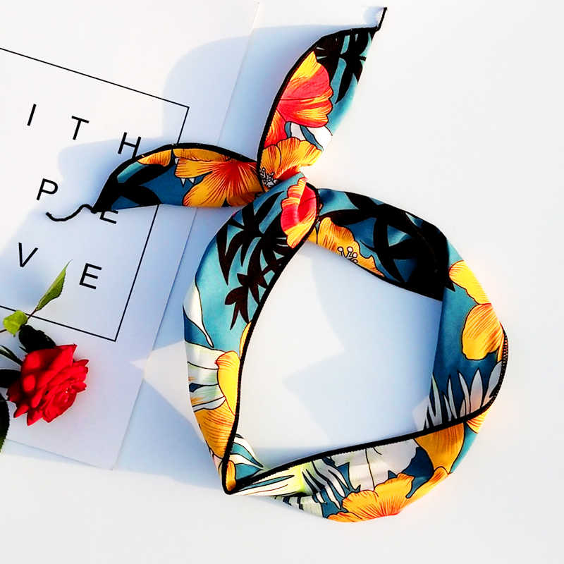 Женская головная повязка летнее платье Пляжная одежда для отдыха шифоновая повязка для волос тюрбан для девочек аксессуары для волос C10