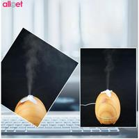 300ML Aroma Essential Oil Diffuser Wood Grain Ultrasonic LED Air Humidifier For Home Mist Maker Fogger