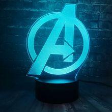 a143c2c8a57 Creativo Marvel 7 colores cargador de batería USB Super héroe accesorios  Capitán América escudo LED decoración de la habitación ... Local volver