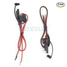 FOXSUR 2 шт. мотоциклы или снегоходы Батарея Зарядное устройство SAE зарядный кабель, SAE Quick Disconnect plug до 12 В кольцо терминал 15A предохранитель