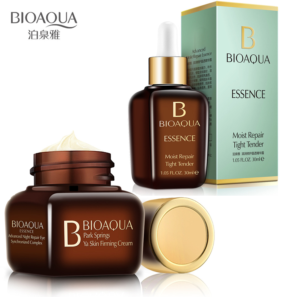 BIOAQUA Face Repair Essence Serum Hyaluronic Acid + Eye Cream Firming Whitening Moisturizing Anti Wrinkle Anti Aging Skin care стоимость
