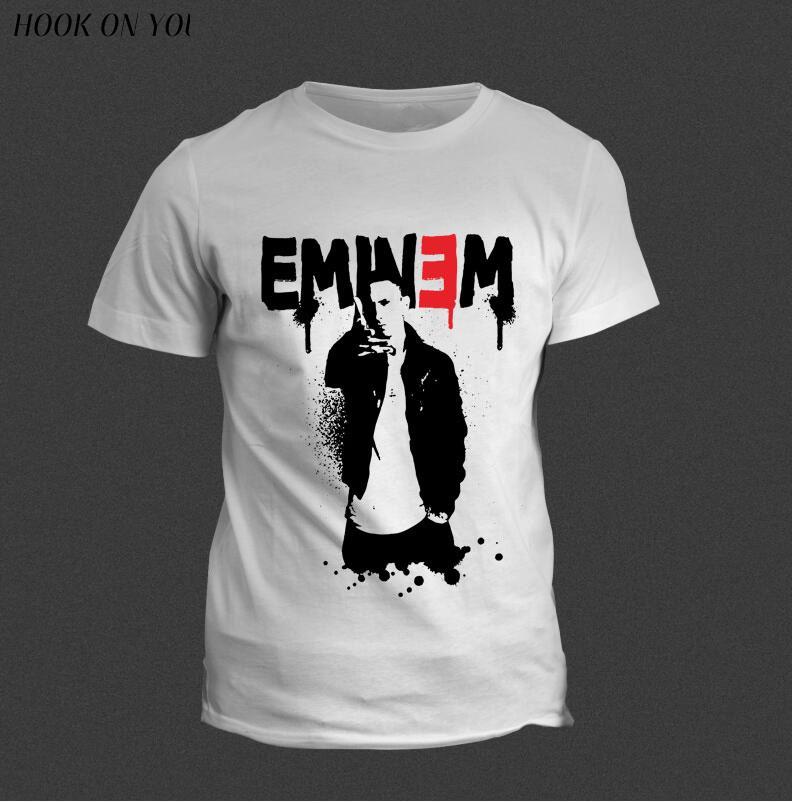 reducere uriașă super popular pret cu ridicata Eminem T Shirt Bad Meets Evil rap rock Men's T Shirt For Men New ...