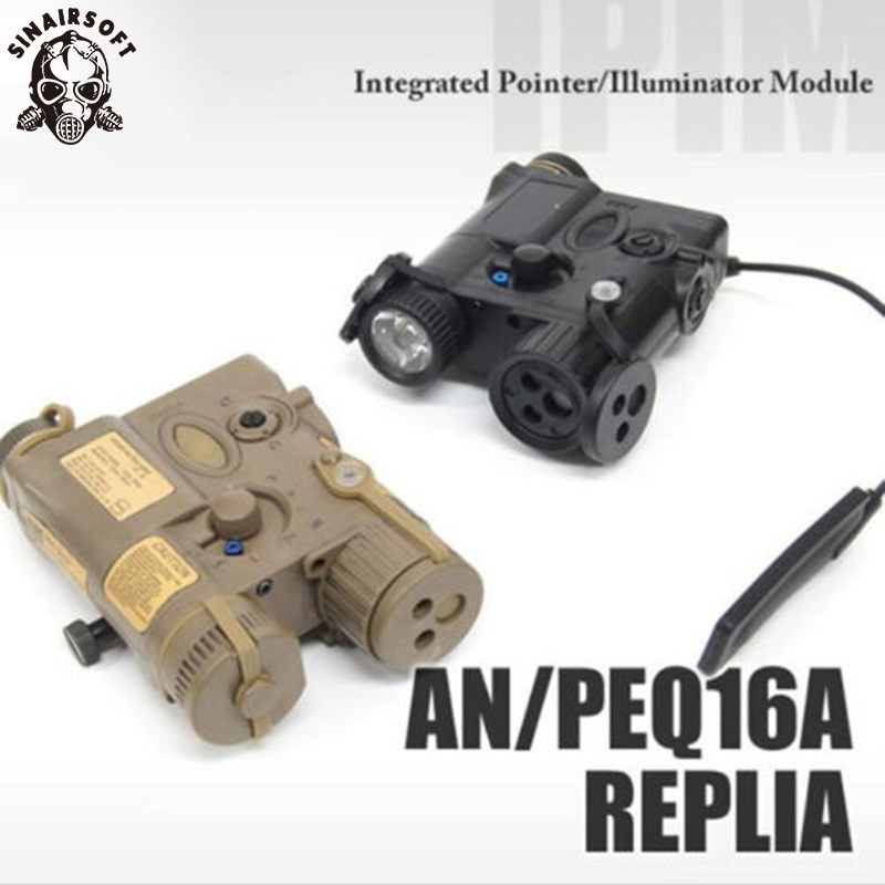 AN/PEQ-16A Red Laser White Blue IR LED Tactical Light PEQ 16A Red Laser Softair Flashlight Paintball Shooting Airsoft Element fma tactical an peq 15 green dot laser with white led flashlight