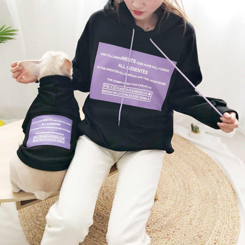 Panno Morbido di inverno Del Cane Vestiti Famiglia Genitore-Bambino di Corrispondenza Vestito Cane di Piccola taglia Medio Cappotto Giacca Bulldog Pet Cat Pajamas Hoodi camicia