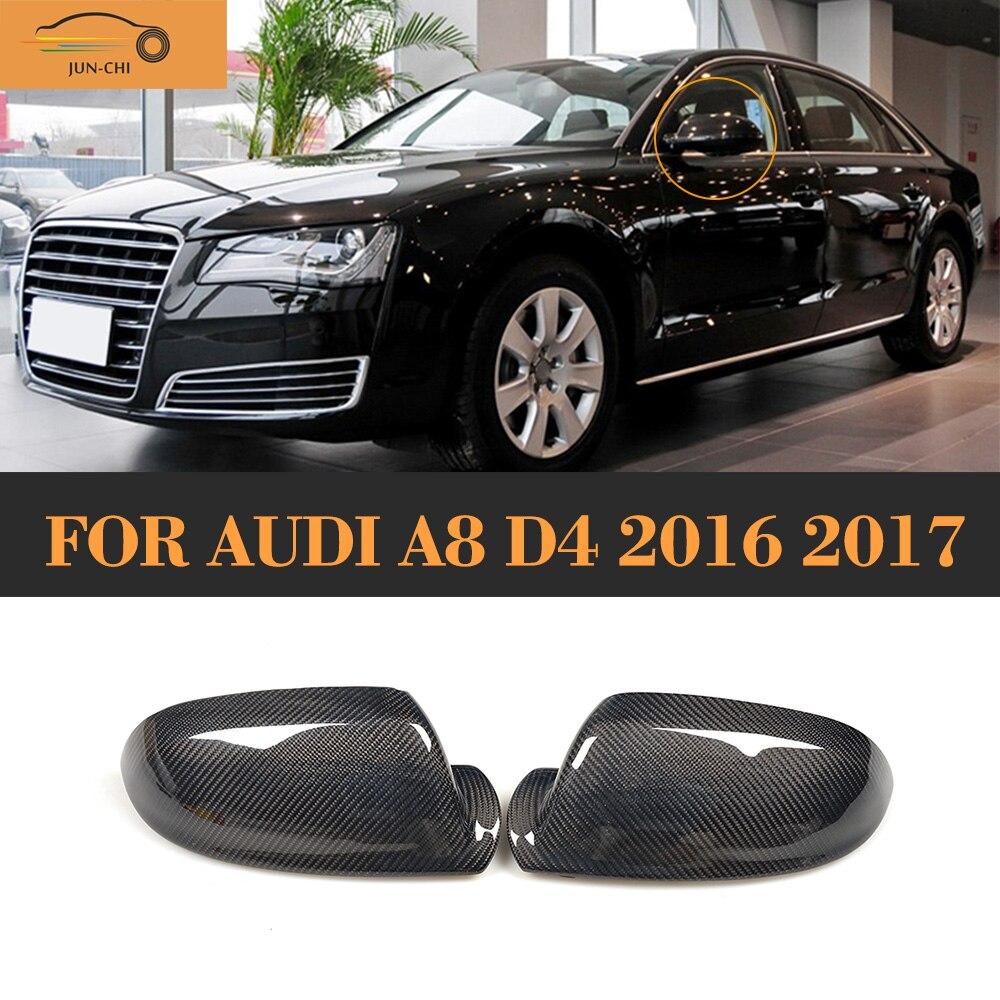 kolfiber Byt ut sidosidan bakifrån spegelöverdrag För Audi A8 D4 - Reservdelar och bildelar - Foto 1