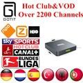 M9S Android 5.1 TV de IPTV 2200 + Canales de Holanda Turco Alemán España Portaguese Albanés Club y VOD IPTV Adulto Caliente Set Top Box