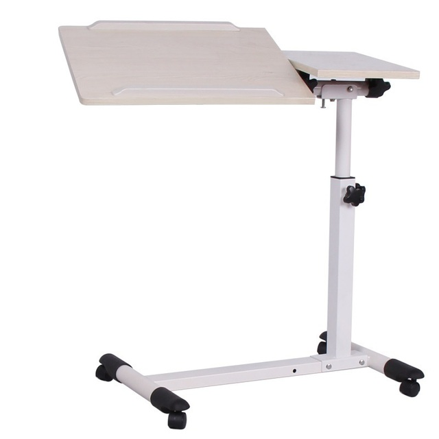 DG#7243 Nobel household lifting and rotating tilt adjustable bedside mobile notebook comter desk white lazy land FREE SHIPPING