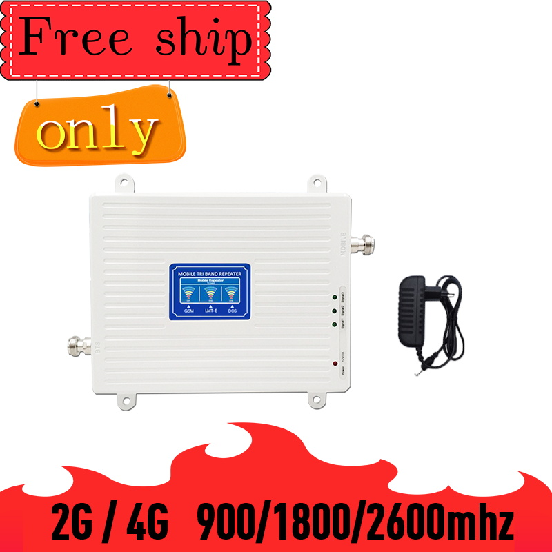TFX-BOOSTER 900/1800/2600 Mhz GSM  2G WCDMA 3G  LTE 4G Mobile Phone Repeater Cellular Signal Booster Amplifier 70db Gain