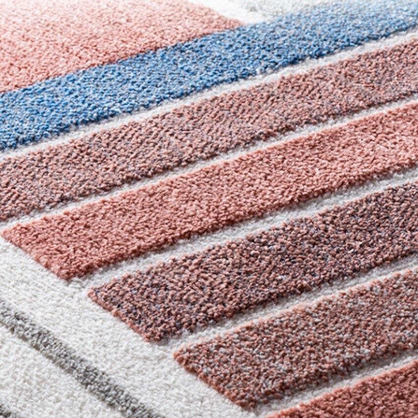 Post-moderne décoration bureau chambre tapis style nordique grande taille géométrique chevet tapis, INS populaire salon tapis - 5
