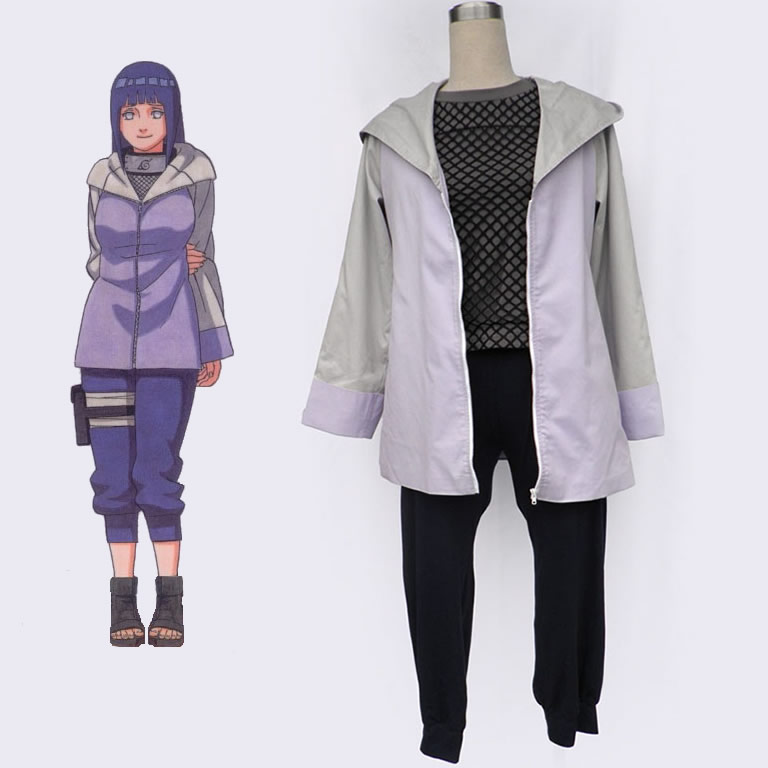 Naruto Hinata Hyuga Cosplay Costumes Cartoon Character Women Dress Up Clothing For Halloween Party Custom Made