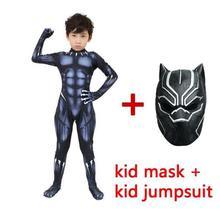 2019 Black Panther Costumes Kids  Halloween Costume Captain America Civil War Movie Marvel cosplay SuperHero Suit