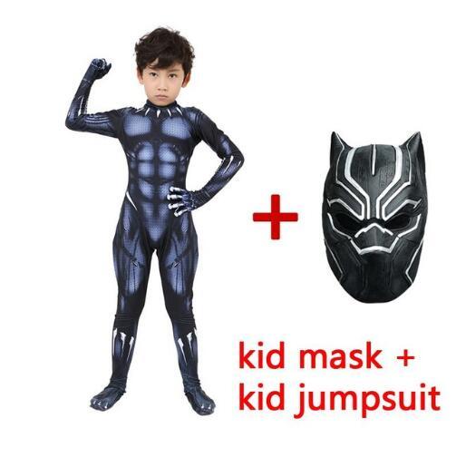 2019 Black Panther Costumes Kids Halloween Costume Captain America Civil War Movie Marvel Black Panther cosplay SuperHero Suit