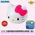 Accesorios del coche de dibujos animados Hello Kitty fresa dulce tipo de cabeza blanca ungüento / fragancias de perfume KT331 envío gratis