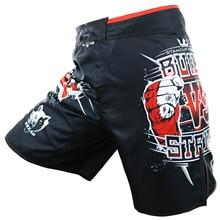Vszap построен VS Strike мужчина борьба Шорты MMA Fight Муай Тай T крюк и Липучка эластичный промежность кулак печать