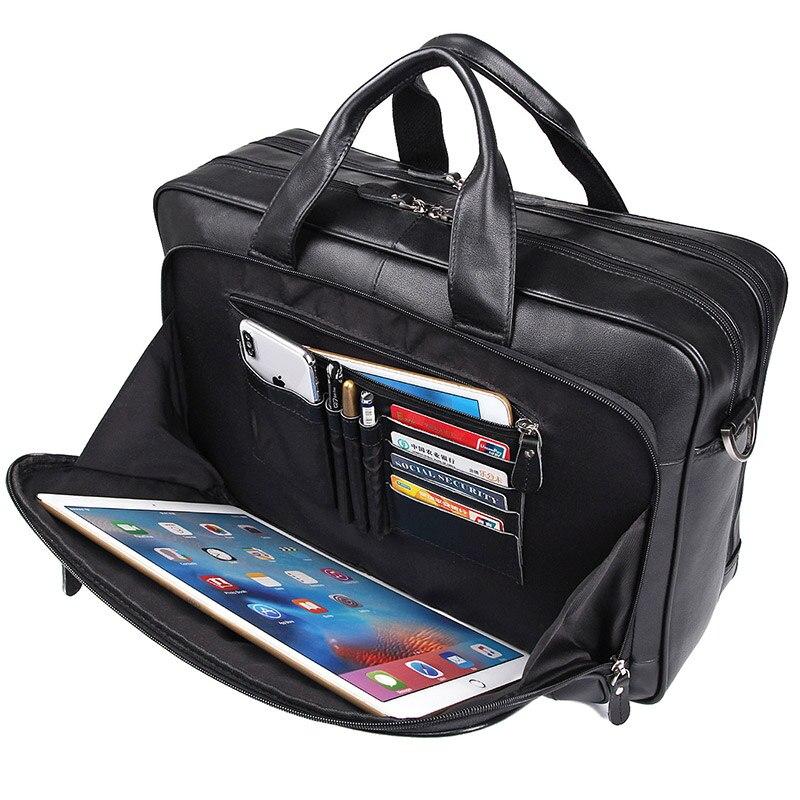 J.M.D Classic Vintage Genuine Leather Handbag Top Handle Laptop Bag 7320A