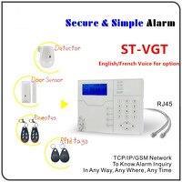 La meilleure Alarme Anglais/Français Voix rapide option TCP/IP D'alarme GSM GPRS Système D'alarme Maison Système D'alarme Avec WebIE/App Contrôle