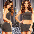 babydoll transparent exotic plus size two pieces hot new code home sexy halter bra Nightgown bag hip two piece Sexy Lingerie Set