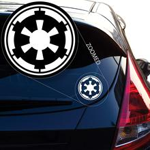 Galactic Empire Star Wars Emblem Crest Decal Sticker for Car Window, Laptop, Motorcycle, Walls, Mirror and More