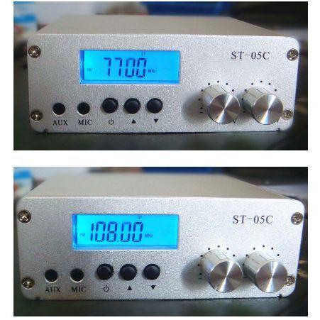 ST-05C 0.1 Вт/0.5 Вт главная FM передатчик стерео pll радиопередача 77-108 МГЦ