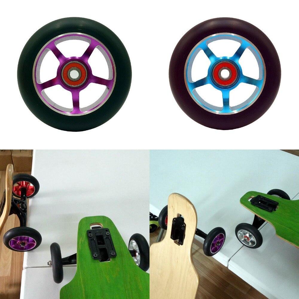 Prix pour Nouvelle creative planche à roulettes roues 100x24mm haute élastique résistant à l'usure Longboard Planche À Roulettes De Roue 4 PCS ventes livraison gratuite