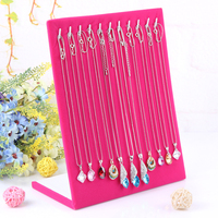 2014 Free Shipping High Quality Fashion Rose Red L Shape Necklace Pendant Necklace Display Rack