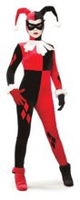 Харли Квинн Косплэй комбинезон костюм черный и красный цвета оборудованная Арлекин Косплэй Хэллоуина клоун джокер костюм костюмы