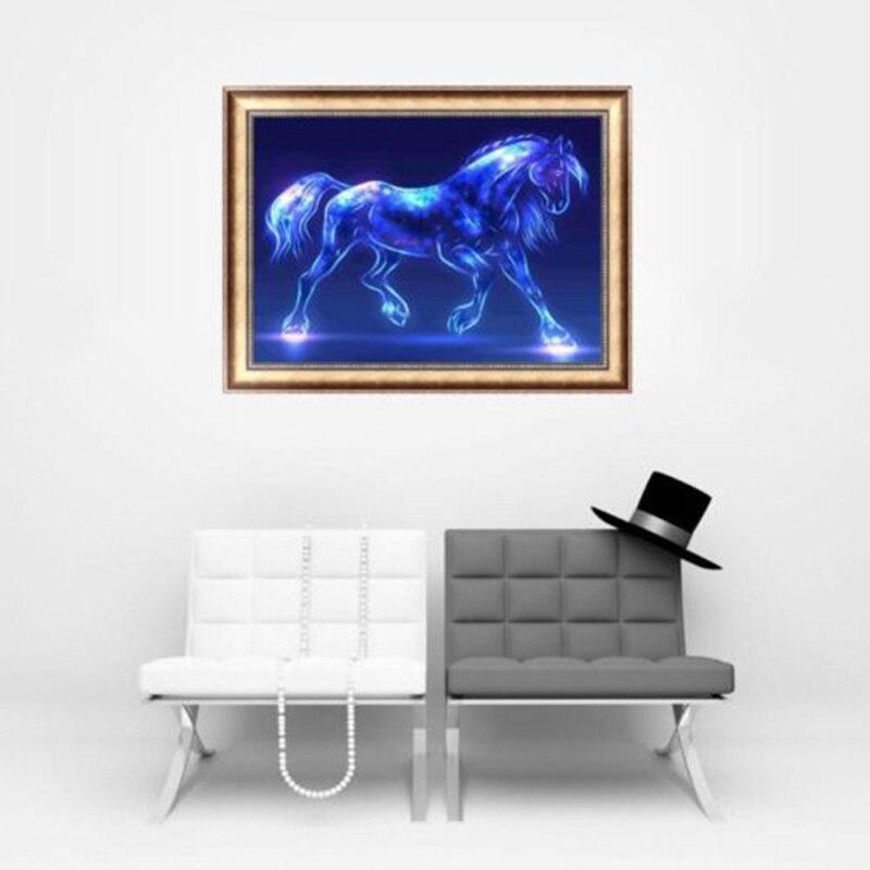 DIY 5D Diamond Embroidery Horse Painting Cross Stitch Art Craft Home Decor