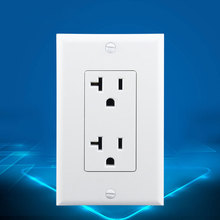 Two U.S. 15A Label Socket In North America NEMA American 5-15R Double Standard Wall Power Outlet