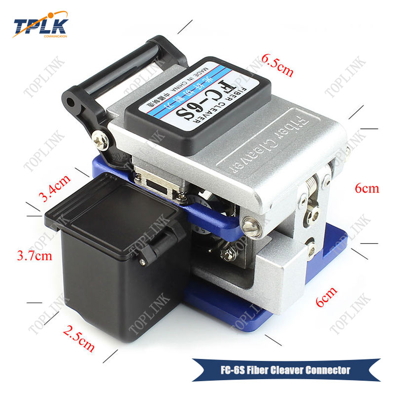 FC-6S Fiber Cleaver Fiber Optic Tools High Precision Electric Cable Cutter