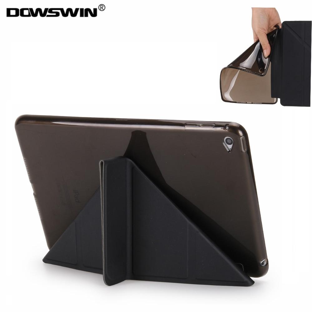 for ipad mini 4 case,DOWSWIN wake up & sleep smart cover tpu soft back cover for apple ipad mini 4 stand flip case