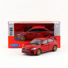 Welly DieCast Metal Model/1:36 Scale/Subaru Impreza WRX STI Toy Car/Pull Back Educational Collection/For Children's Gift(China)