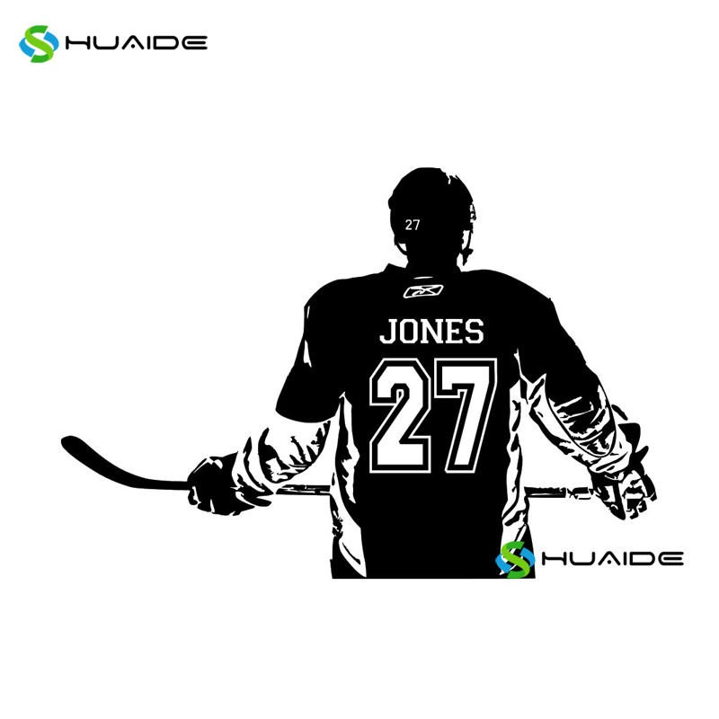Hockey Wall Decal Large Decal Custom Name Decal Boys: Ice Hockey Wall Decal Custom Name And Number Personalized