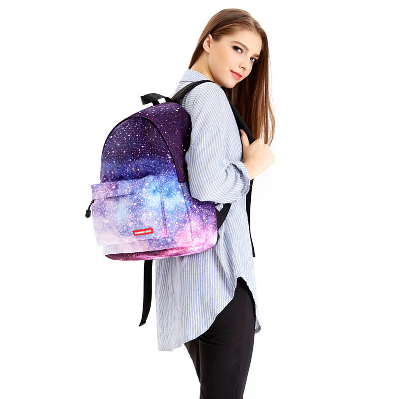 2017 Fashion Milky Way Starry Sky Girls Backpack Big Capacity School Bags For Teenagers Printing Backpacks