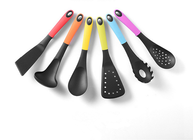 KITCHEN ESSENCIALTOOL SET WITH STAND NON STICK COOKING UTENSIL 7PCS