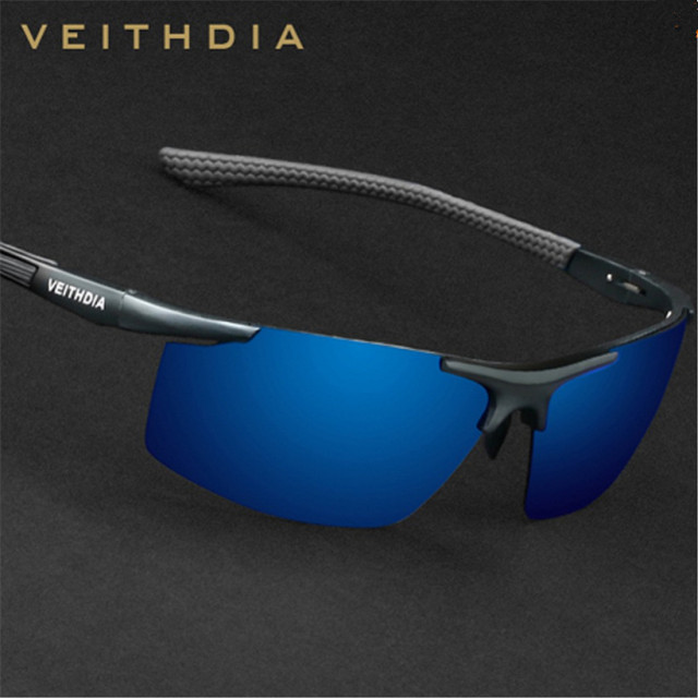 Veithdia 6588 Mens Sunglasses Polarized Sport UV400 For Men Driving Luxury Brand Fishing Male Yellow Night Vision Sun Glasses