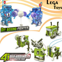 4 IN 1 Self-Assembled Electronic Building Robot,DIY Boxing fighter Robot  Science kits  Constructor Board Games model kit Toys
